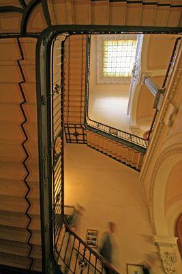 im Treppenhaus des Berliner Doms