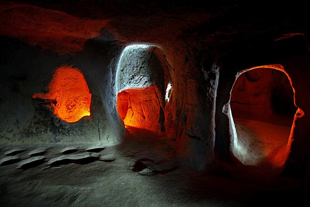 Im Untergrund Kappadokiens