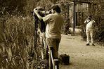 Im Visier: Die besondere Fotografenhaltung