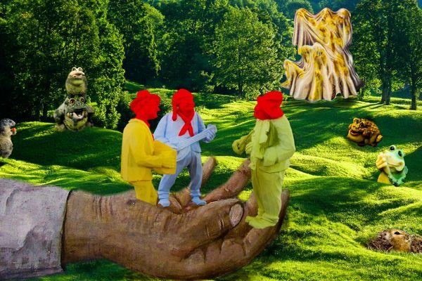 Im Wald das Konzert der 3 Redhaeds