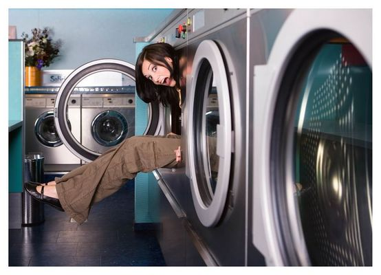 Im Waschsaloon (oder besser: Im Trockner)