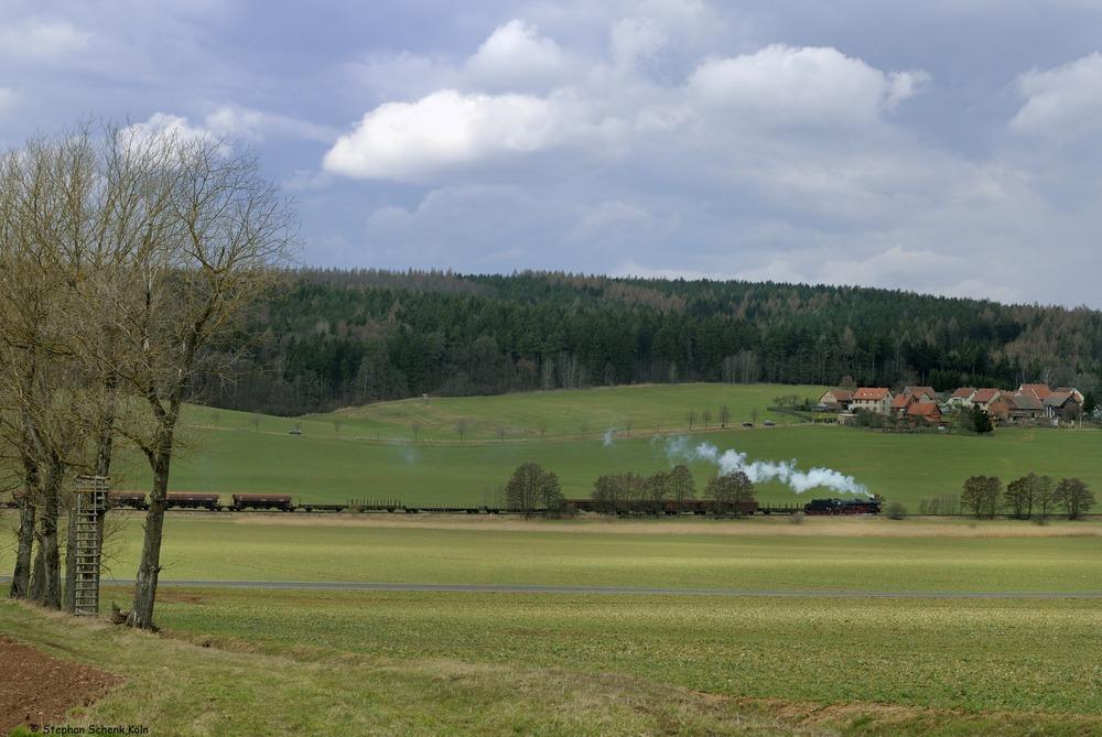 Im Werratal (4); - Oberrohn, der Hüttenhof-Blick -