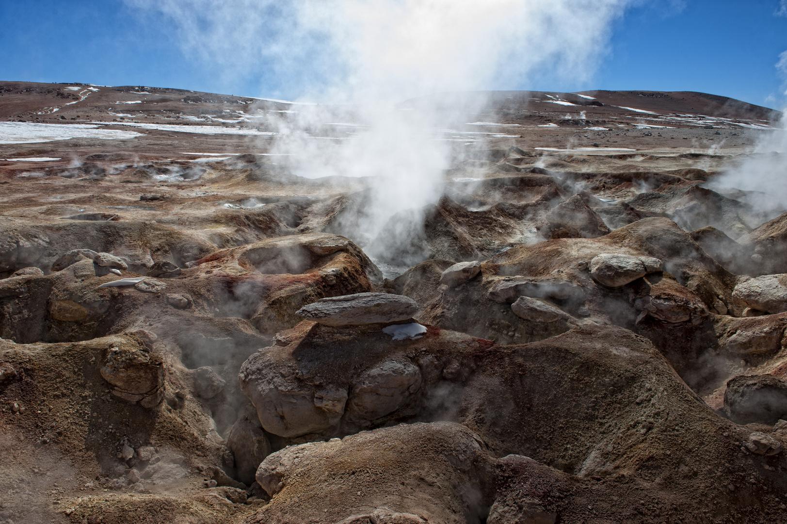 Im Zentrum des Vulkans