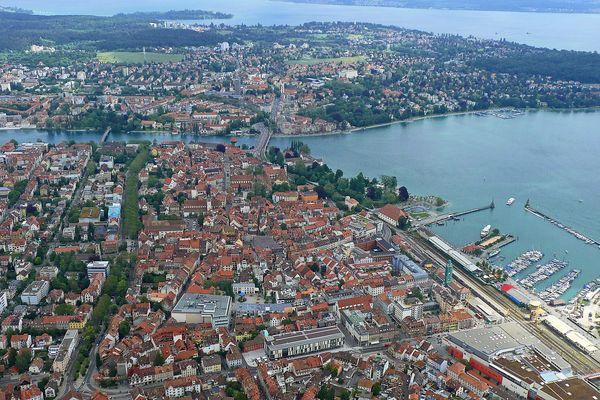Im Zeppelin über Konstanz