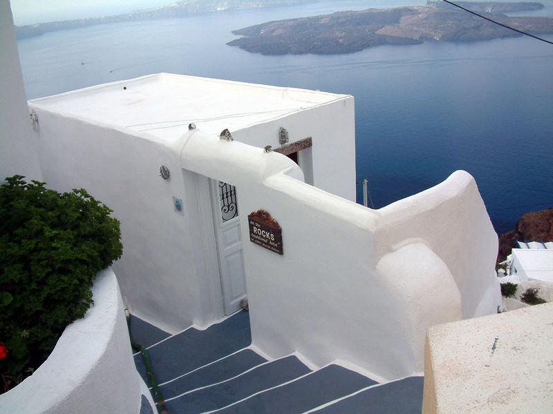 Imerovigli auf Santorini ...