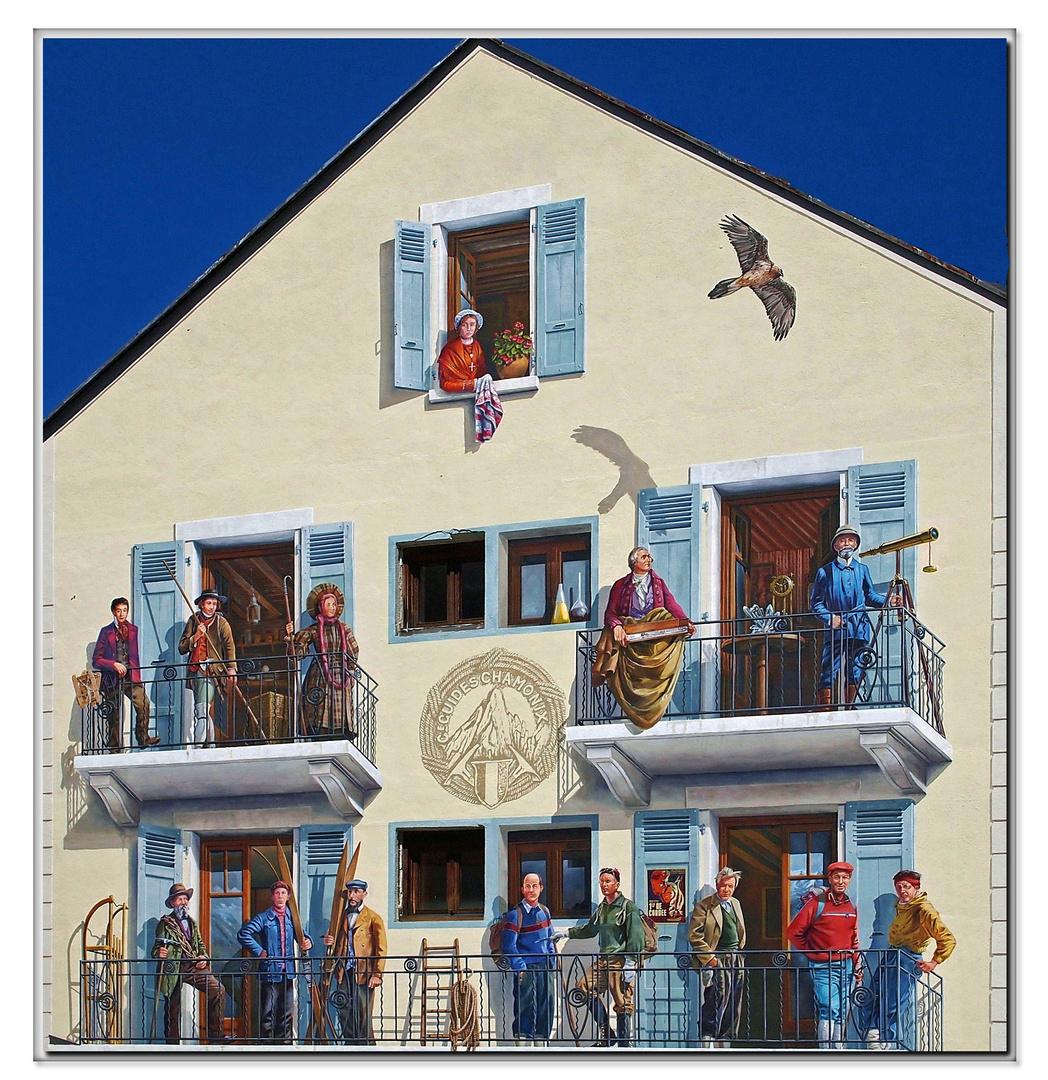 Immense trompe l oeil 2 foto immagini arte murales villes et maisons fot - Trompe l oeil maison ...