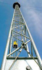 Immer dem Mast entlang...nach oben.