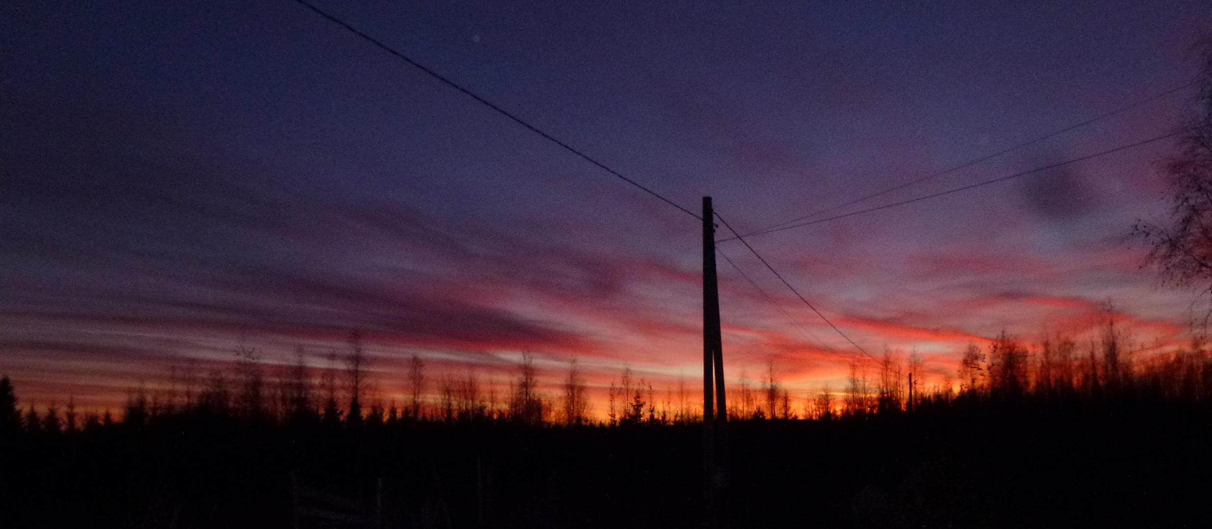 Immer ieder faszinierend: der Sonnenuntergang