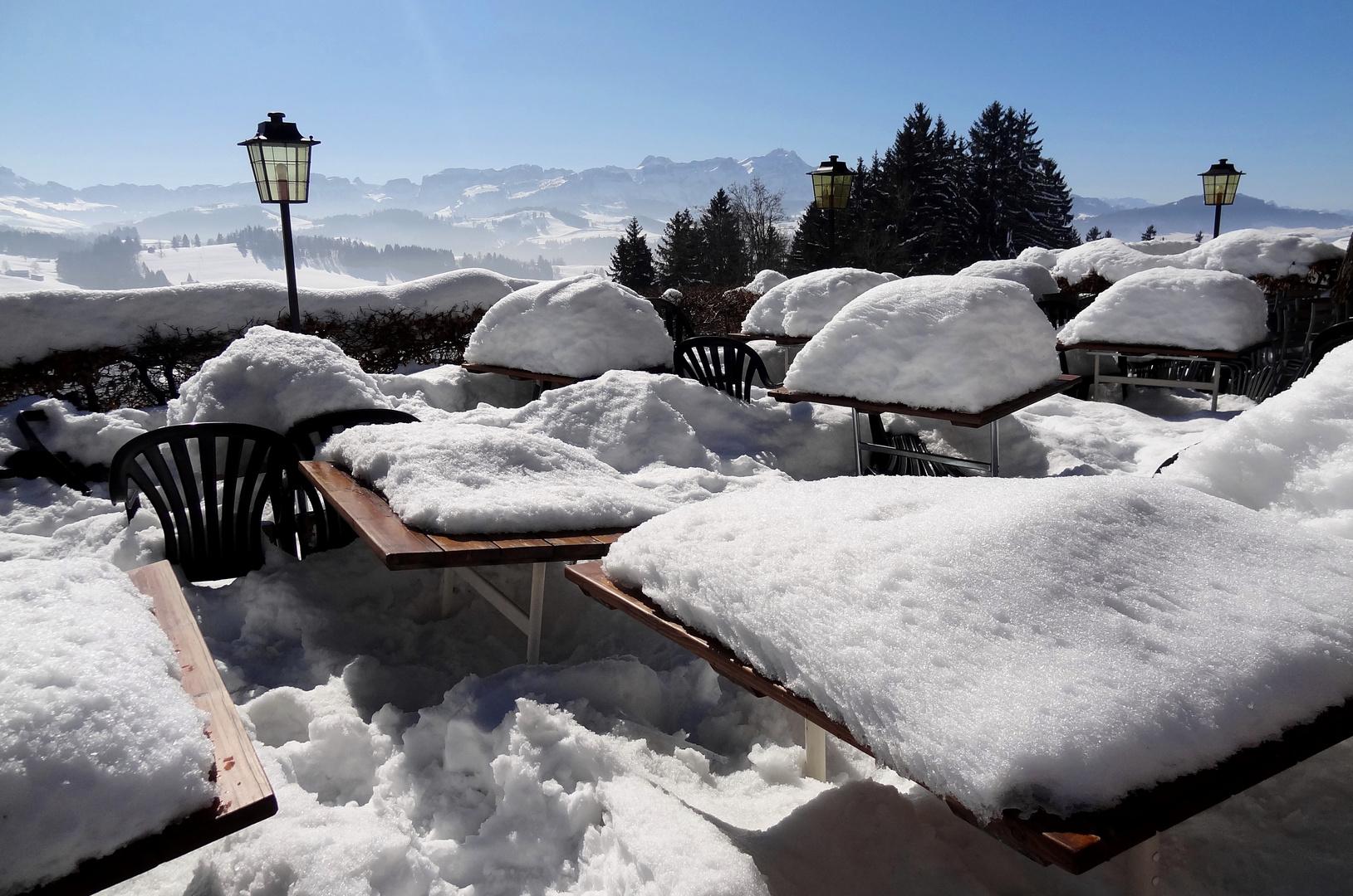 immer noch so viel Schnee...