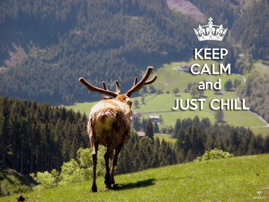 Immer schön ruhig bleiben und genießen ;)