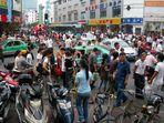Immer wieder ein Erlebnis: die Suzhou Lu in Hefei