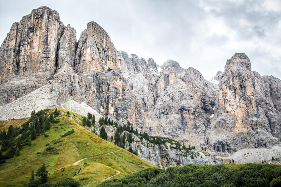 Imposing mountains of Dolomites
