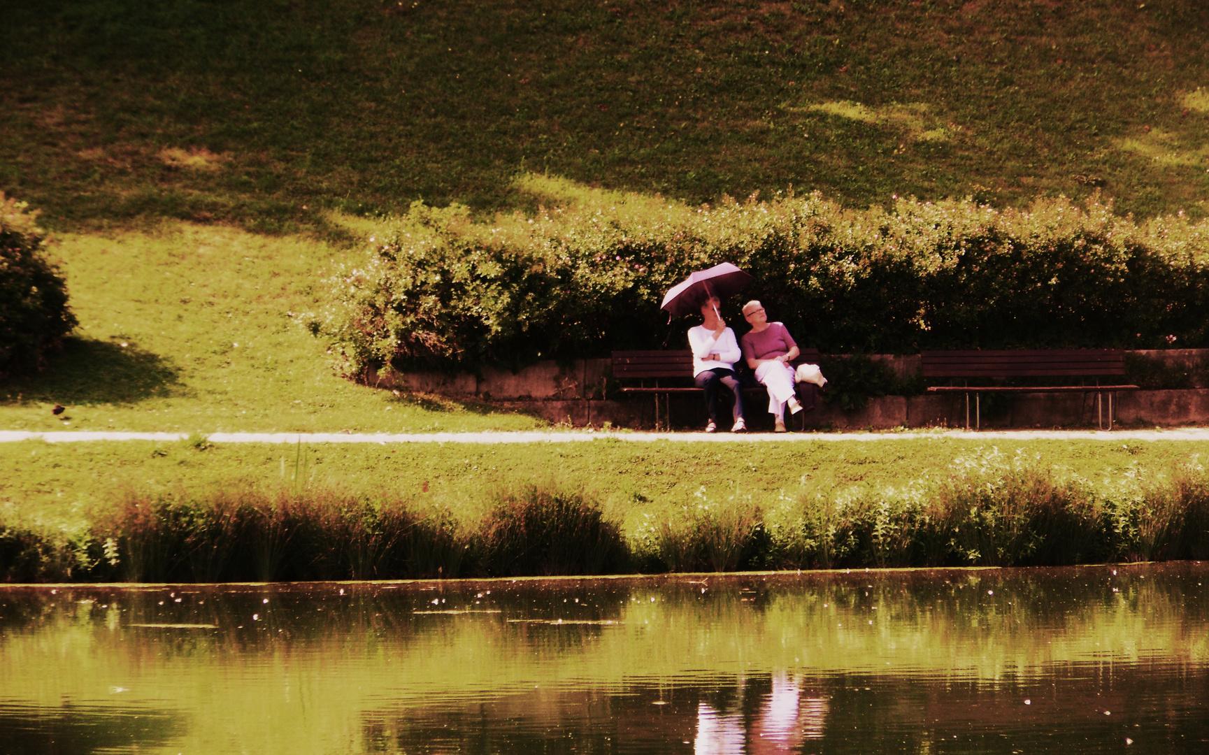 Impress.i. Rosensteinpark...3 unterm Sonnenschirm ist gut sitzen