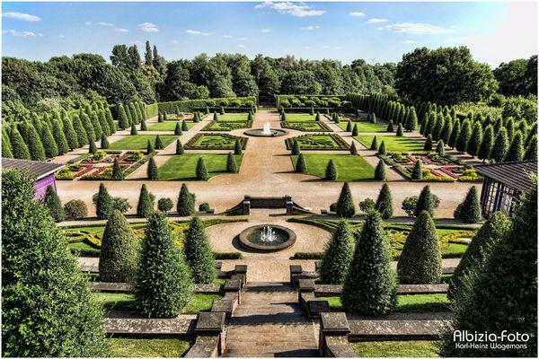 Impressian vom Garten des Kloster Kamp