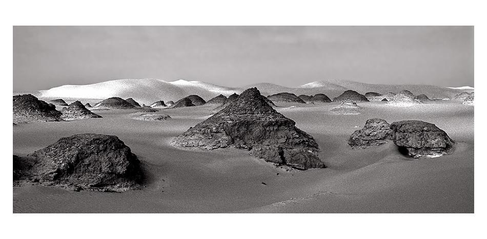 Impression du désert Libyen (Western desert) en Egypte