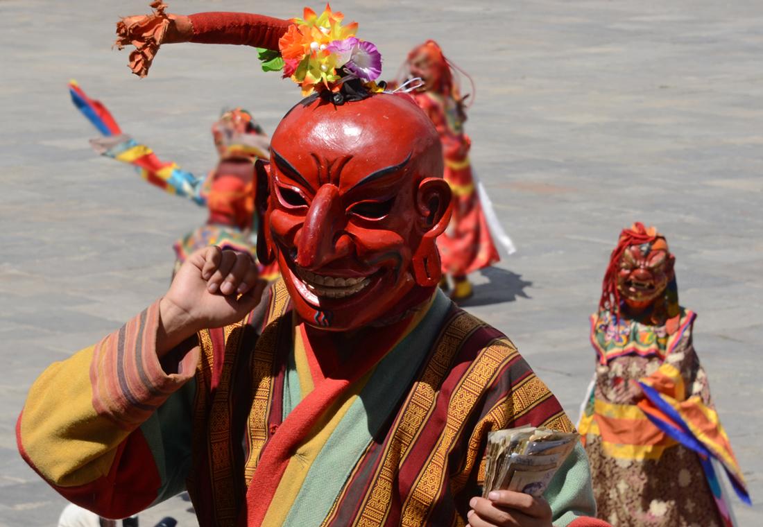 Impressionen vom Maskenfest in Thimphu X