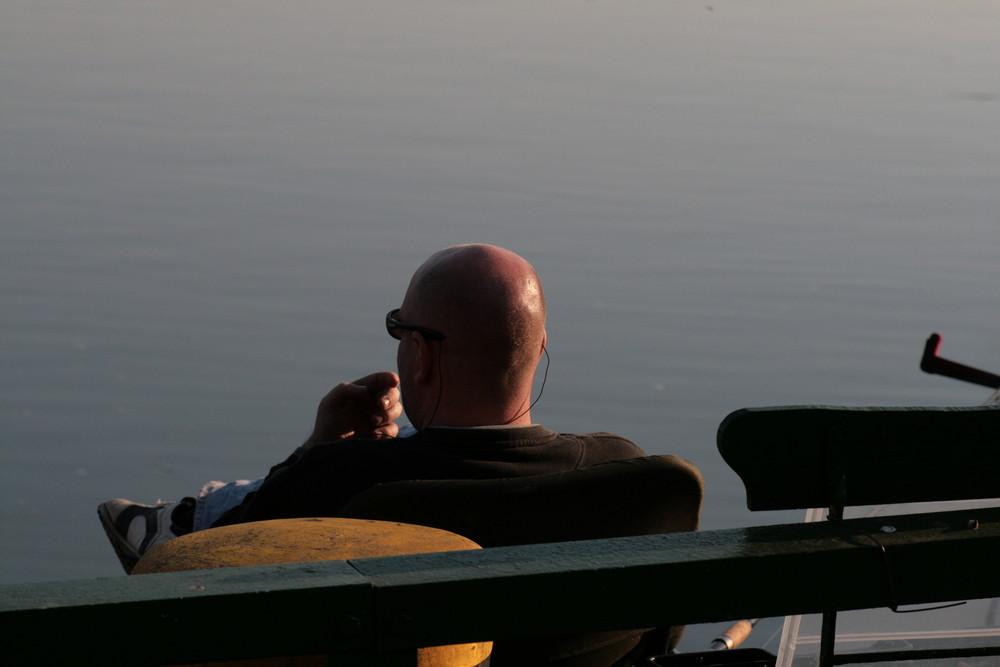 in Abendsonne