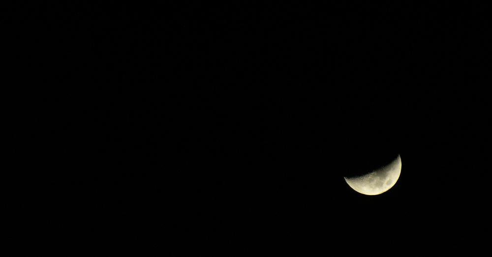 In Ägypten macht der Mond es sich bequem...