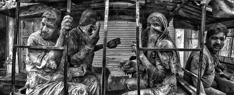 In Black and White...Holi Is Hell