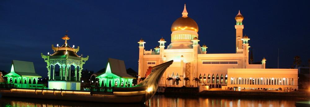 in Brunei Bandar Seri Begawan die - Sultan-Omar-Ali-Saifuddin-Moschee