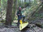 In canoa nel bosco.....