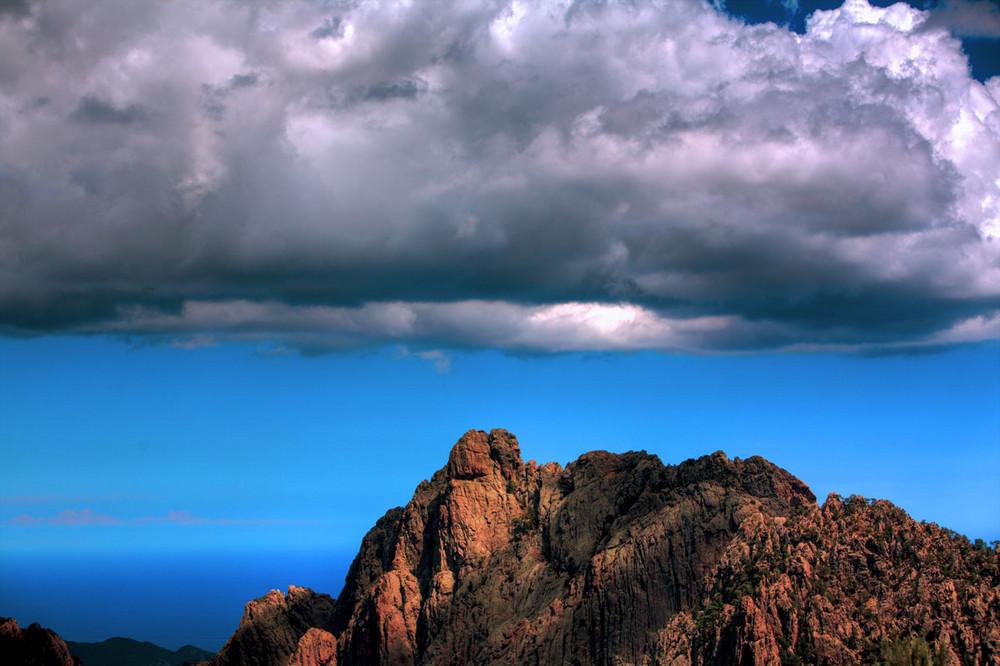 In cima alla Corsica