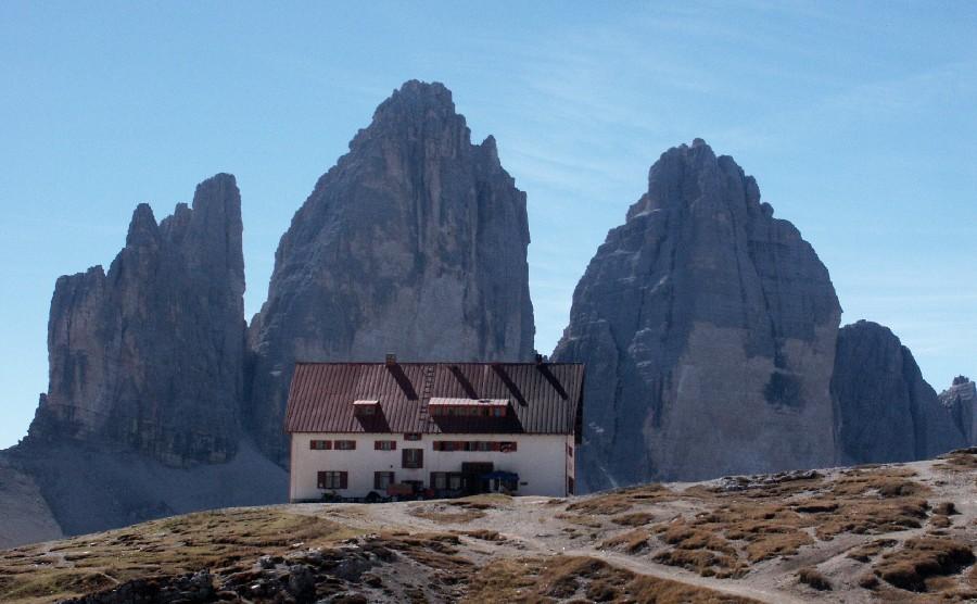 in den Dolomiten an den Drei Zinnen