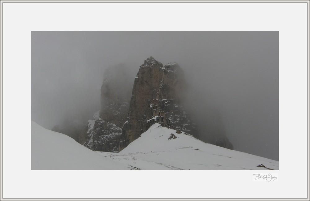 In den Dolomiten oberhalb Wolkensteins
