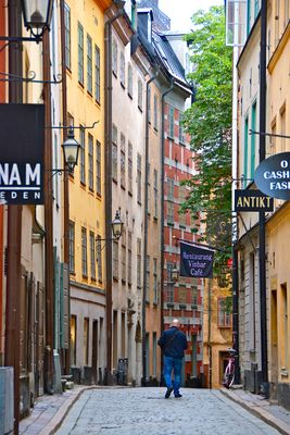 In den Häuserschluchten Stockholms