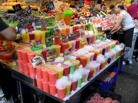 In den Markthallen von Barcelona Aug.2010