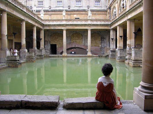 In den römischen Thermen von Bath