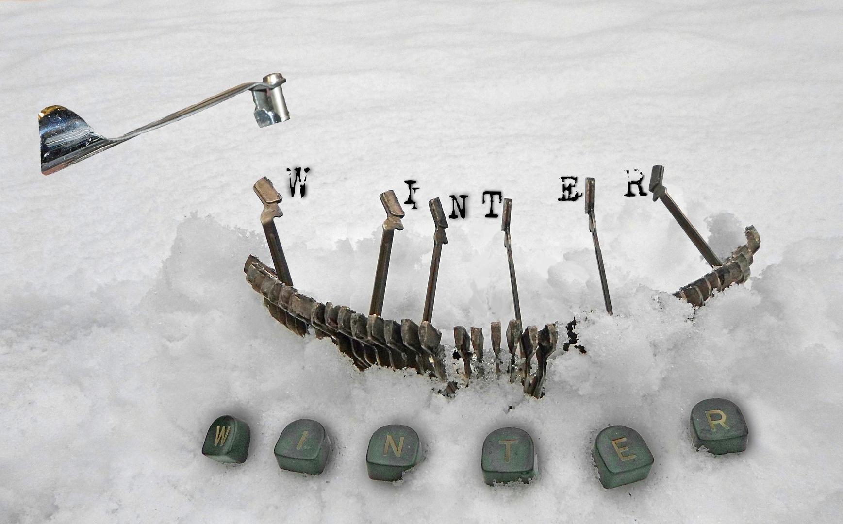 in den Schnee geschrieben