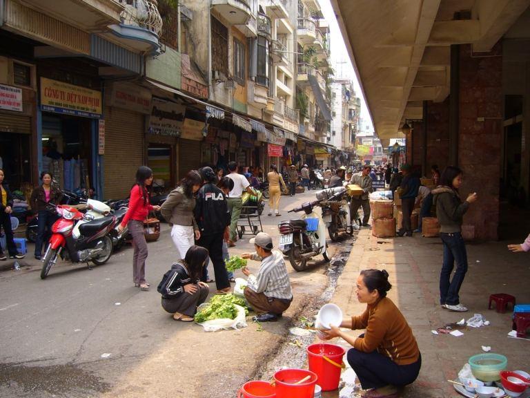 In den Straßen von Ha Noi
