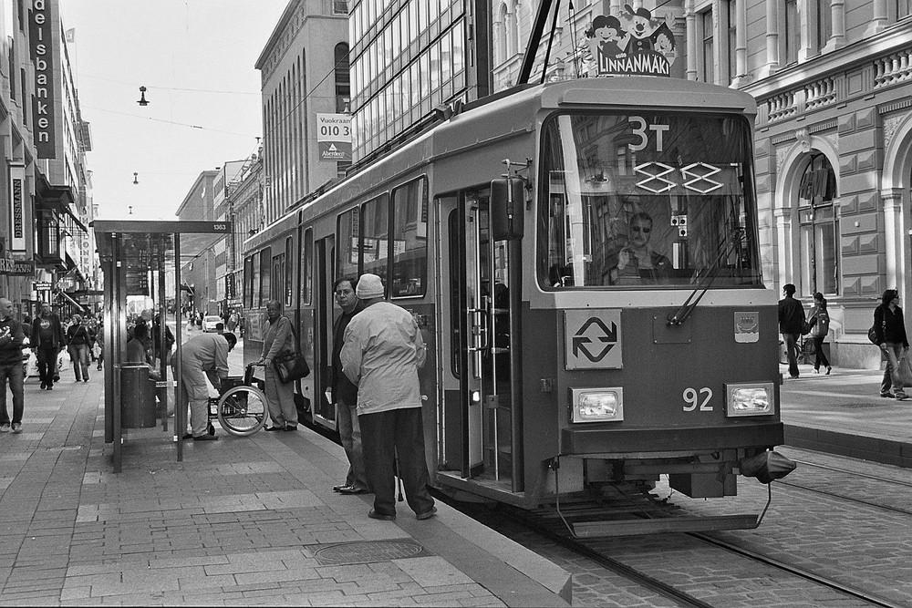 In den Straßen von Helsinki
