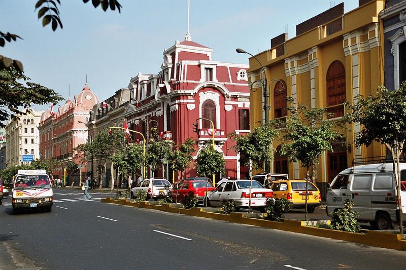 in den Straßen von Lima
