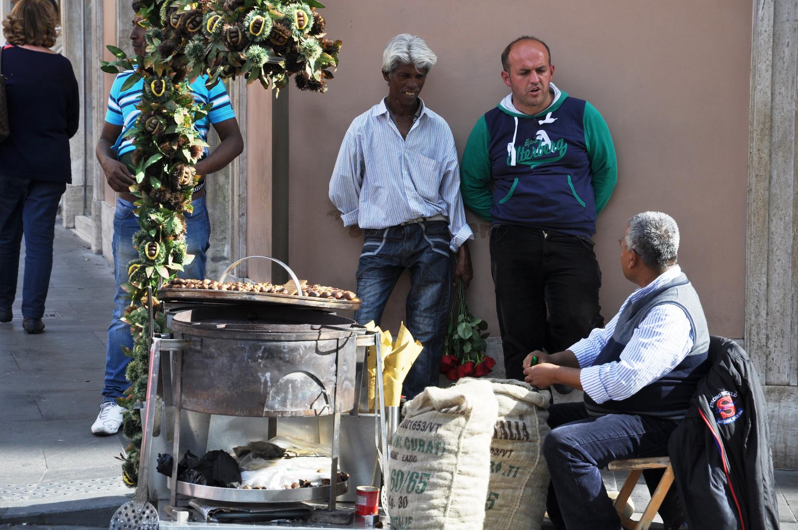 In den Straßen von Rom