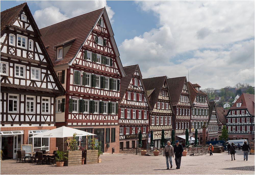 In der Altstadt von Calw (Schwarzwald)