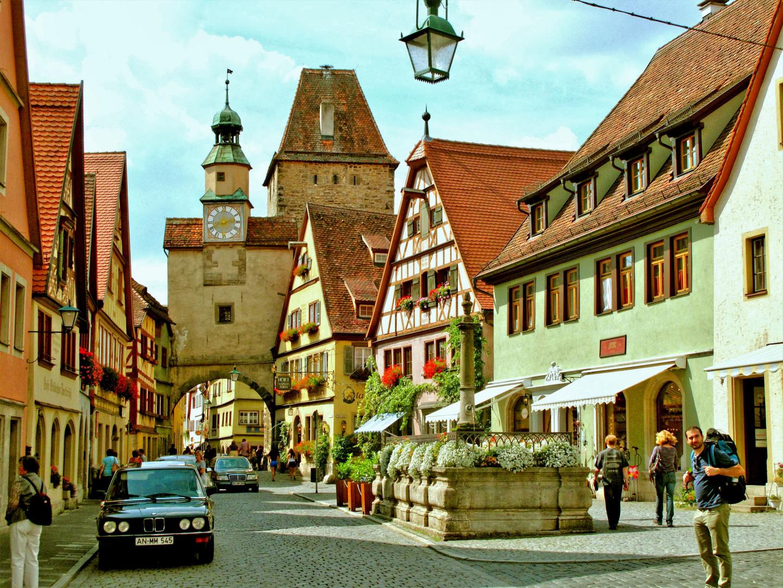 In der Altstadt von Rothenburg o. T.