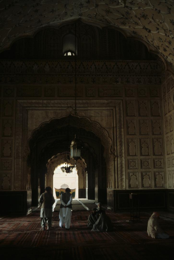 in der Badshahi-Moschee in Lahore