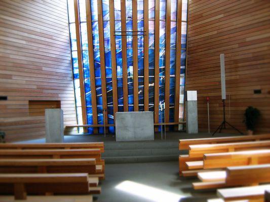 In der Franziskuskirche auf der Seiser Alm.