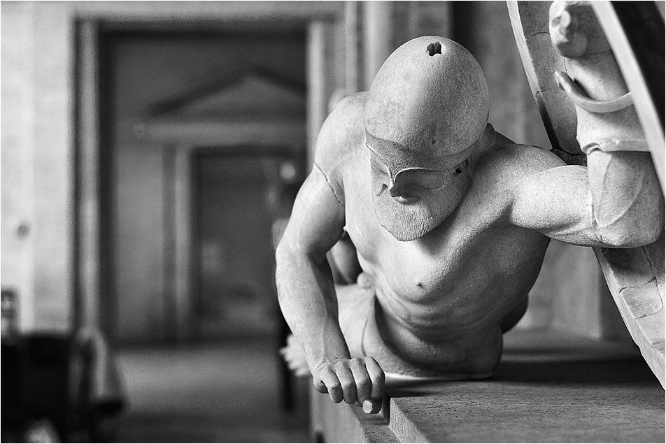 In der Glyptothek ...