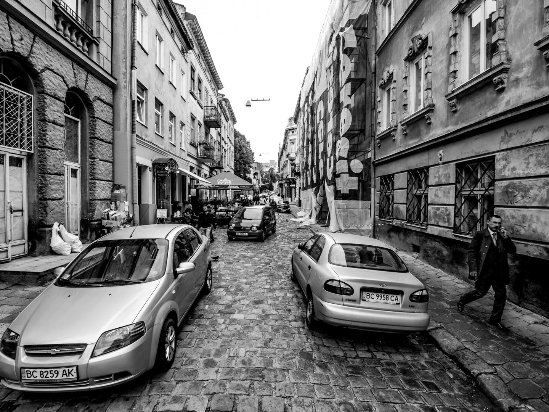 In der Innenstadt von L'viv