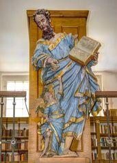 In der Klosterbibliothek des Zisterzienserklosters Marienstatt ...