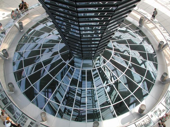 In der Kuppel des Berliner Reichstags