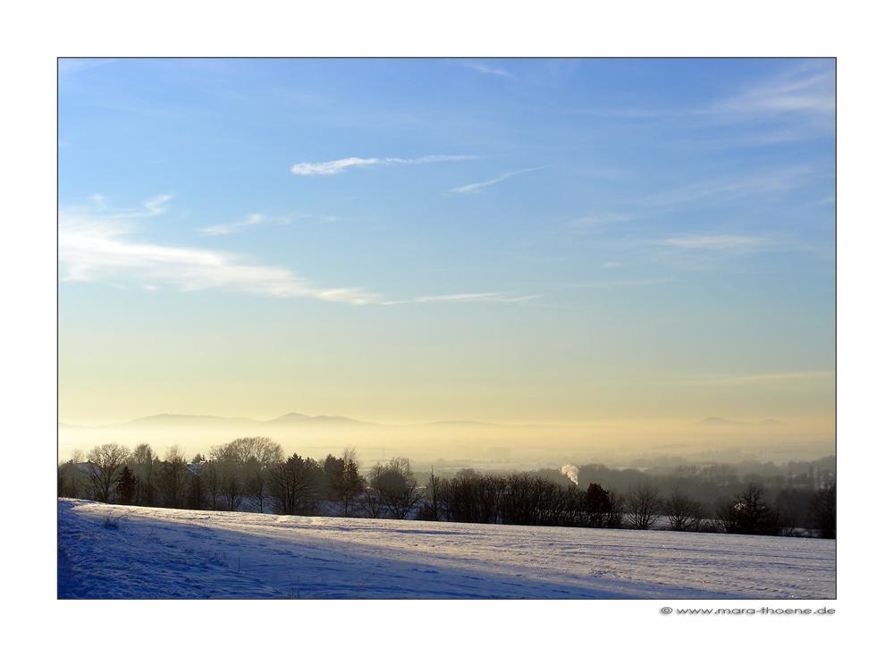 In der Mitte ein Nebelband