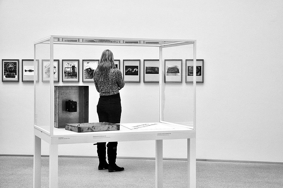 In der Pinakothek der Moderne ...
