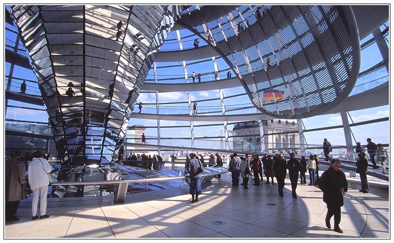 In der Reichstagskuppel