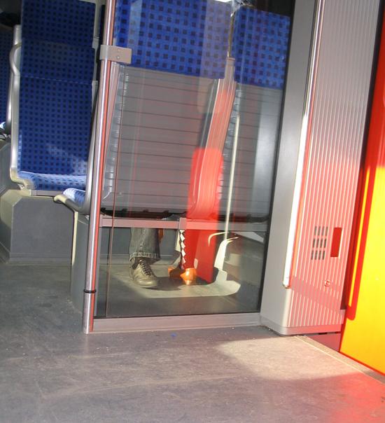 ...in der S-Bahn...