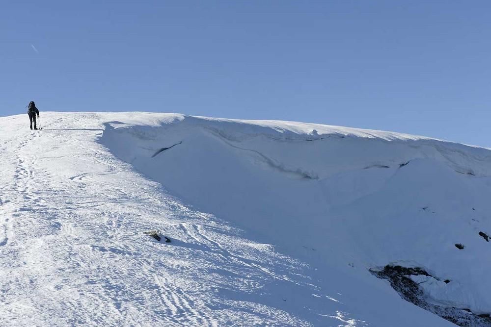 In der Schneelandschaft der Hochvogesen - am Hohneck