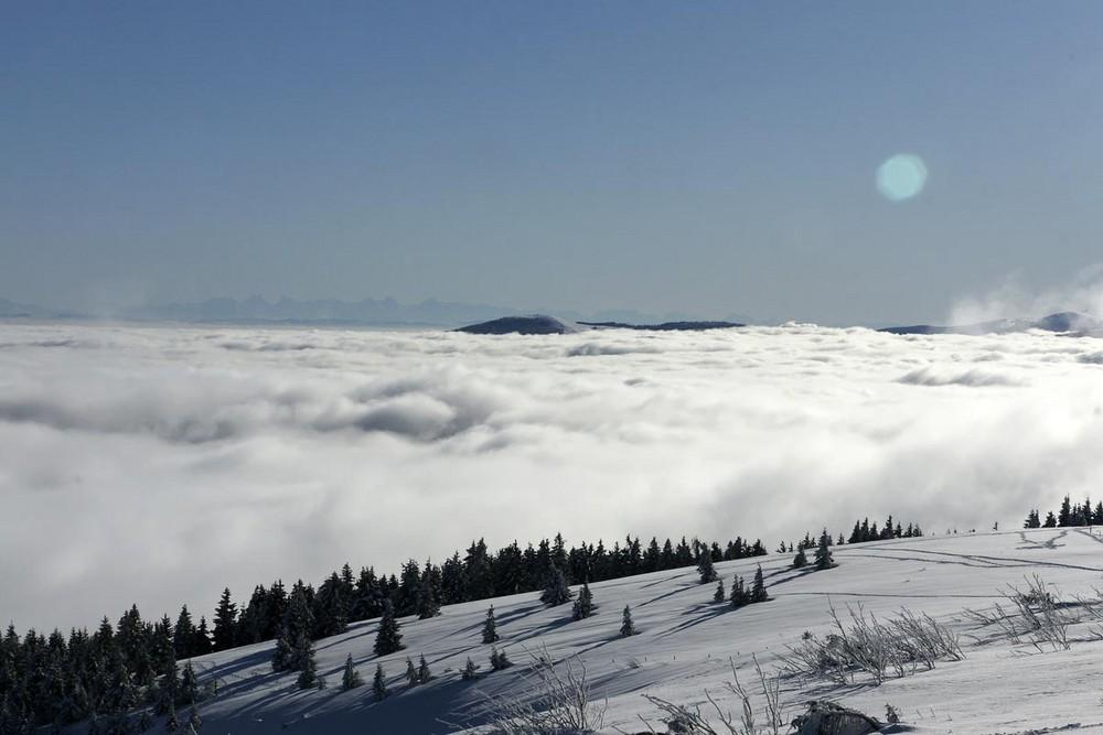 In der Schneelandschaft der Hochvogesen - am Tanet